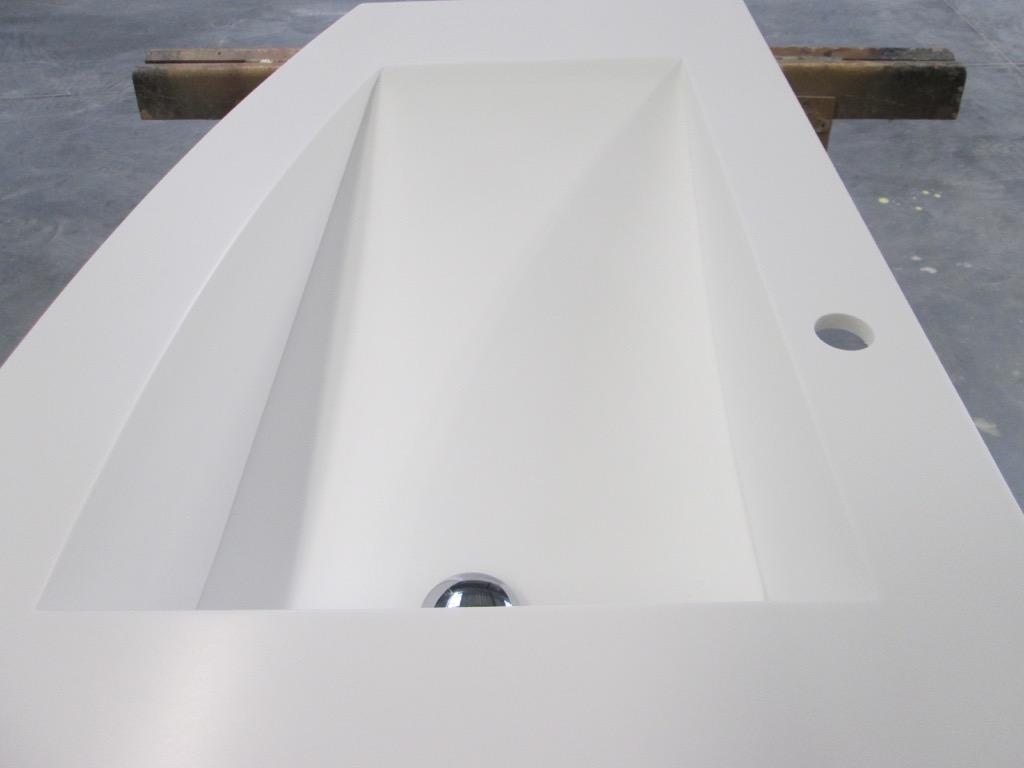 Plan Vasque Sur Mesure fabricant plan de vasque résine de synthèse